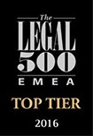 Legal500 Top Tier Firm - 2016 1