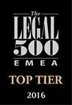 Legal500 Top Tier Firm - 2016 1